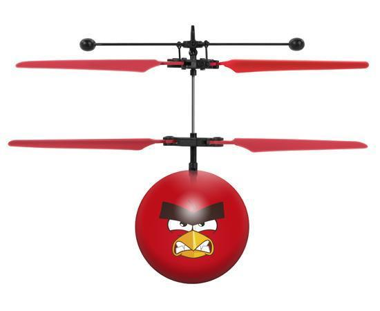 Rovio Licensed Angry Birds Red IR UFO Heli Ball Heliball World Tech Toys