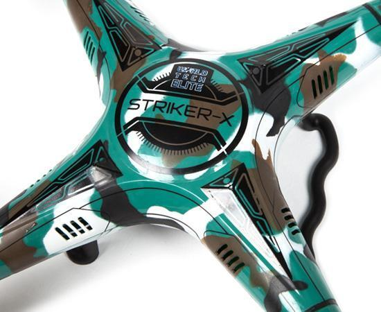 Striker-X Camo 2.4GHz 4.5CH RC HD Camera Drone Drones World Tech Toys
