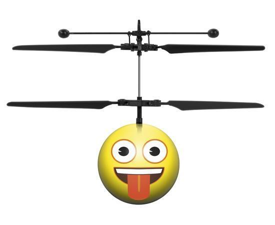 World Tech Toys Emoji Crazy Face IR UFO Heli Ball Heliball World Tech Toys
