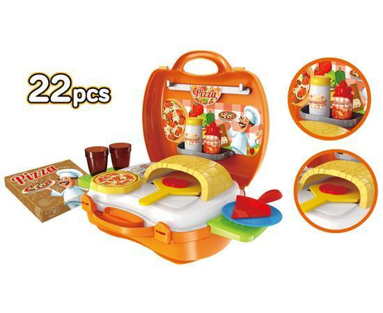 World Tech Toys Pizzeria 22 Piece Suitcase Playset Toys World Tech Toys