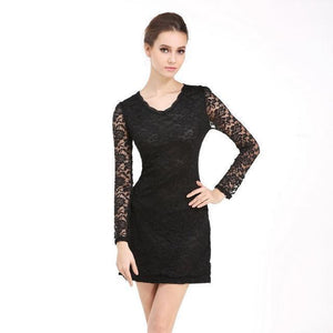 Lace Long Sleeve Bodycon  Dresses