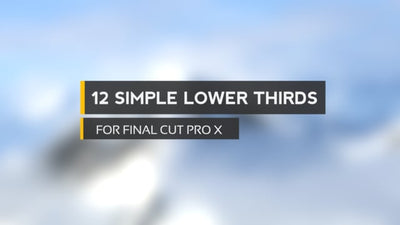 12 Simple Lower Thirds