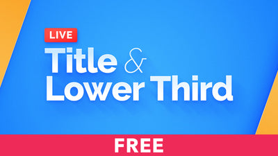 Live - Title & Lower Third Free