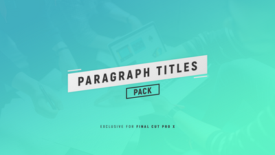 Paragraph Titles Pack