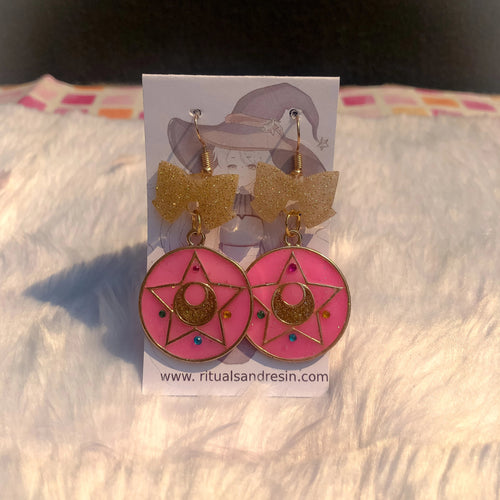 Magical Girl Emblem Earrings - Classic