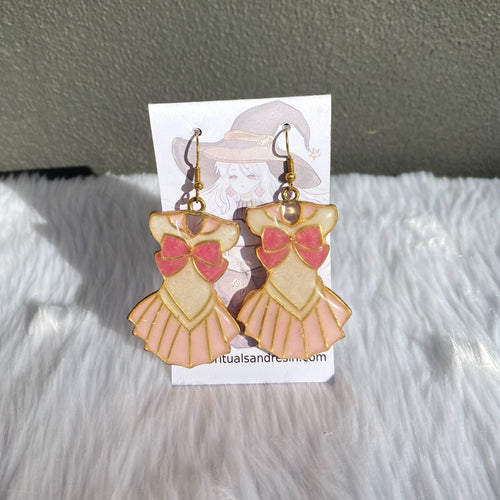 Magical Girl Dress Earrings - Pink