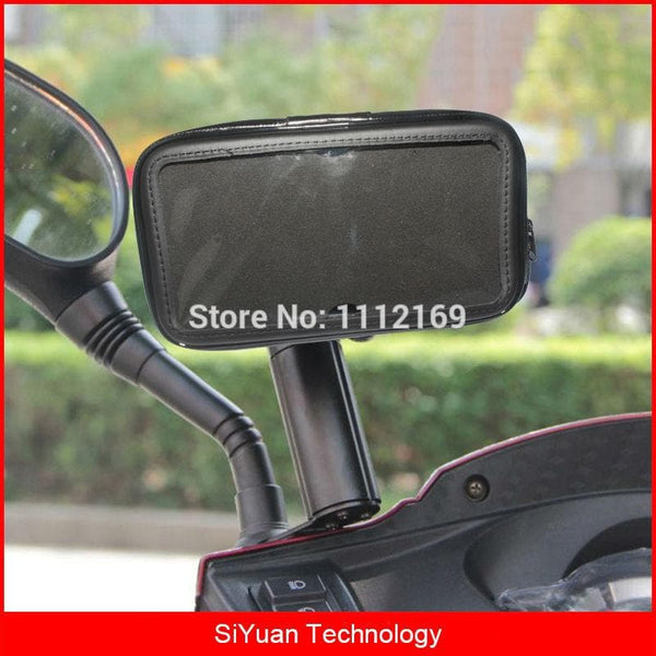 Waterproof Motorcycle Motorbike Scooter Phone Holder Bag Case For Mobile Phone : Phone Holders & Stands - Gadgets 4 EZ Life