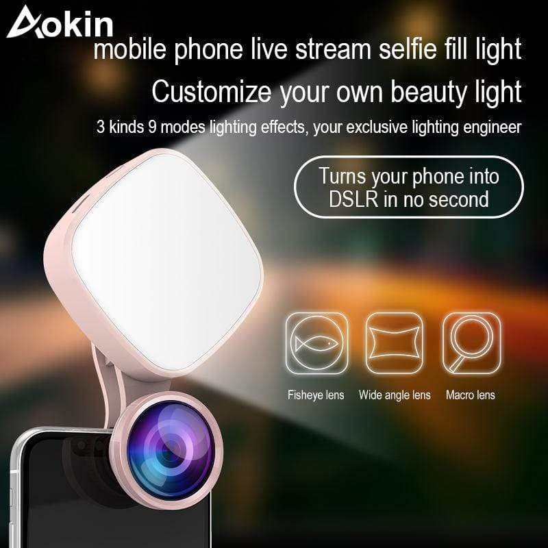 Universal All In One Photography Lens Clip With LED Flash Light For Phone Camera : Mobile Phone Lens - Gadgets 4 EZ Life