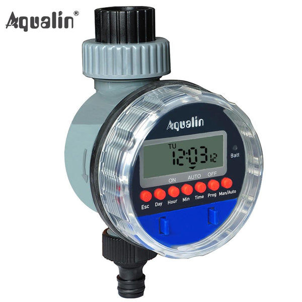 Automatic Electronic LCD Display Home Ball Valve Water Timer Garden Irrigation : Garden Water Timers - Gadgets 4 EZ Life
