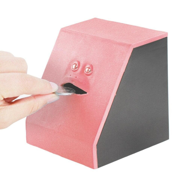 Automatic Open Mouth Eating Coins Box Piggy Bank Money Saving Box Machine