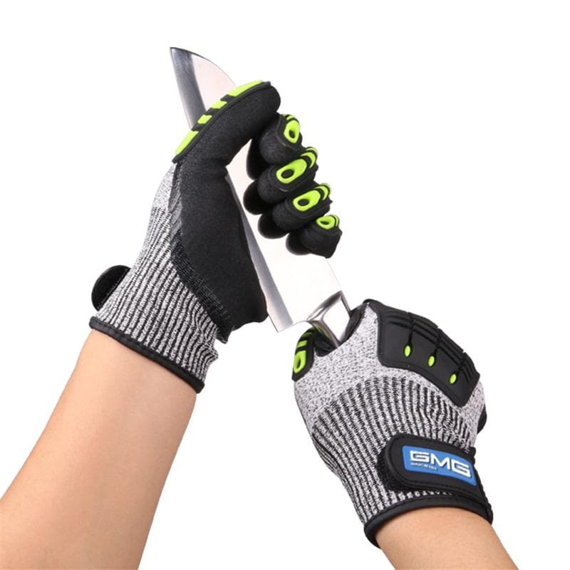 Anti-Impact Work Safety Gloves Vibration Cut Resistant Gloves Mitts : Safety Gloves - Gadgets 4 EZ Life