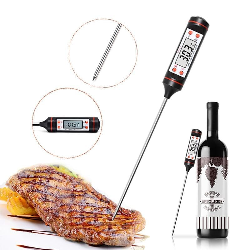 Digital Meat Cooking Thermometer New Instant Read With LCD Screen, Grills, BBQ, : Temperature Gauges - Gadgets 4 EZ Life