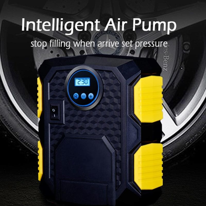 Digital LCD Tyre Tire Air Pump Pressure Gauge Tester 0-200PSI Car Motorcycle : Inflatable Pump - Gadgets 4 EZ Life