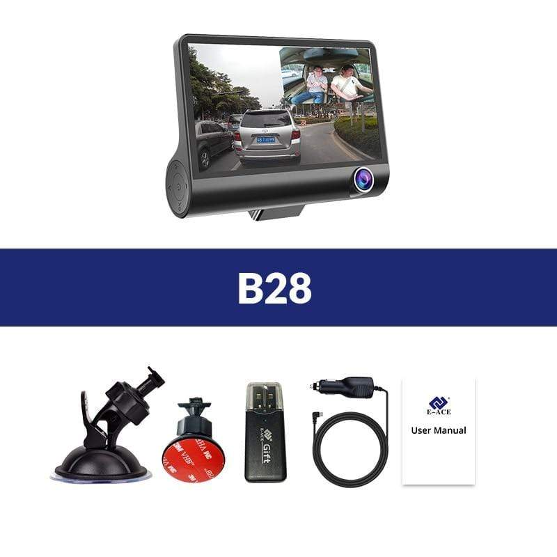 4.3'' HD 1080P Car DVR Dual Lens Dash Cam Video Camera Recorder Rear View Mirror : DVR/Dash Camera - Gadgets 4 EZ Life