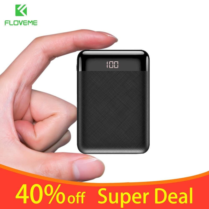 FLOVEME Mini 10000mAh Power Bank For iPhone Samsung Mobile Phone Charger Dual : Power Bank - Gadgets 4 EZ Life