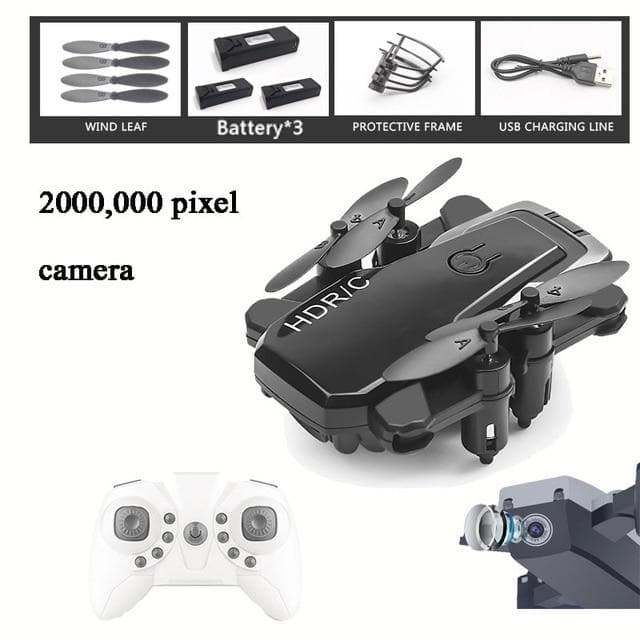 Drone Mini 2.4G Selfie WIFI FPV With 4K HD Dual Camera Foldable RC Quadcopter US : RC Helicopters - Gadgets 4 EZ Life