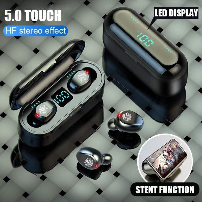 Support Qi Charging Wireless TWS bluetooth 5.0 Sports Earphones Headphone Earbud : Bluetooth Earphones & Headphones - Gadgets 4 EZ Life