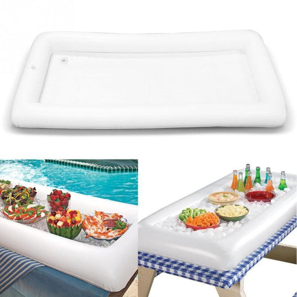 Inflatable Serving Bar Buffet Salad Ice Cooler Picnic Camping Party Yard Outdoor : Outdoor Tables - Gadgets 4 EZ Life