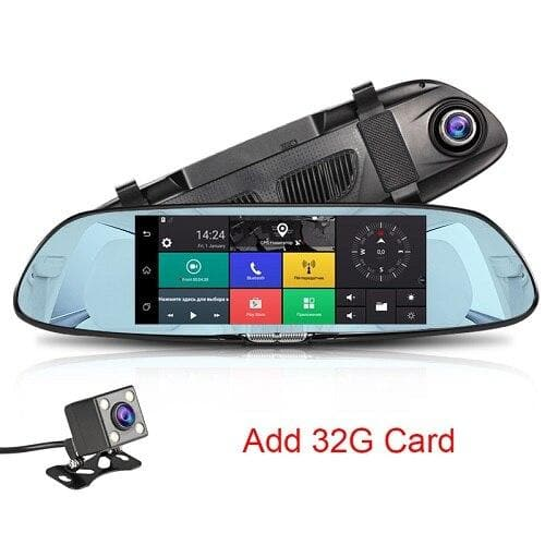 "Dual Lens HD 1080P 4.3"" Car DVR Rearview Mirror Camera Dash Cam Video Recorder : Car Mirror Video - Gadgets 4 EZ Life"