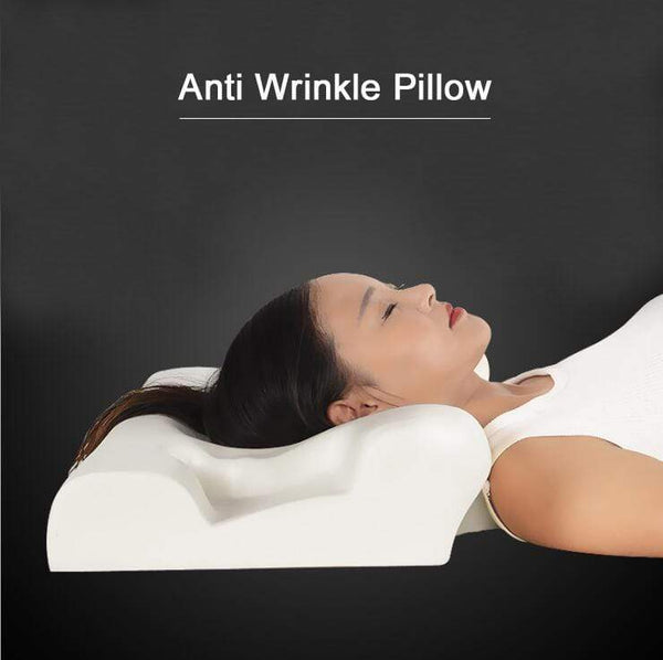 Anti Wrinkle Memory Pillow Ergonomic Curve Improve Sleeping Foam Perfect Pillows : Decorative Pillows - Gadgets 4 EZ Life