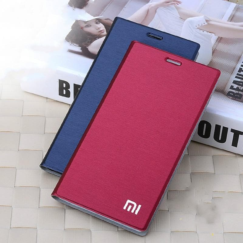 New Arrival For Xiaomi mi4 m4 Case, Luxury Slim Style Flip Leather Case For Xiaomi Mi4 M4 Cover Bag stand card holder function : Flip Cases - Gadgets 4 EZ Life