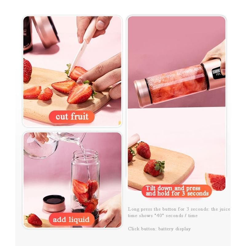 Portable Electric Juicer Fruit Juice Machine Milkshake Maker : Juicers - Gadgets 4 EZ Life