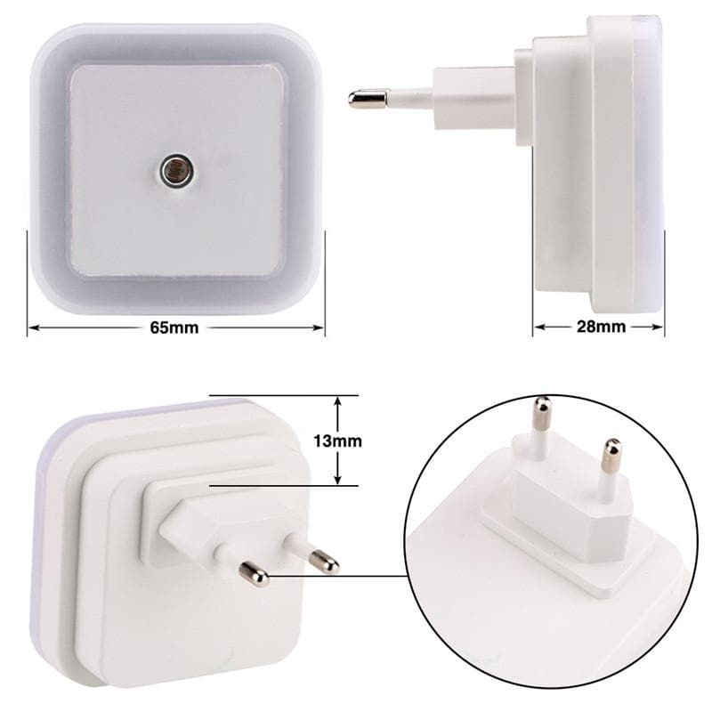 Mini Nightlight Sensor Control Lamp with EU/US Plug : LED Night Lights - Gadgets 4 EZ Life