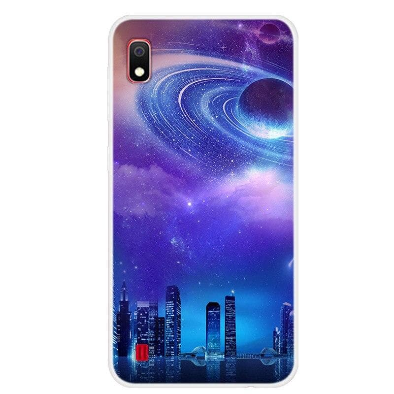 Silicone Case For Samsung A10 Soft Art Star Space Print Phone Back Cover For Samsung Galaxy A10 A 10 A105 A105F TPU bumper Case : Fitted Cases - Gadgets 4 EZ Life