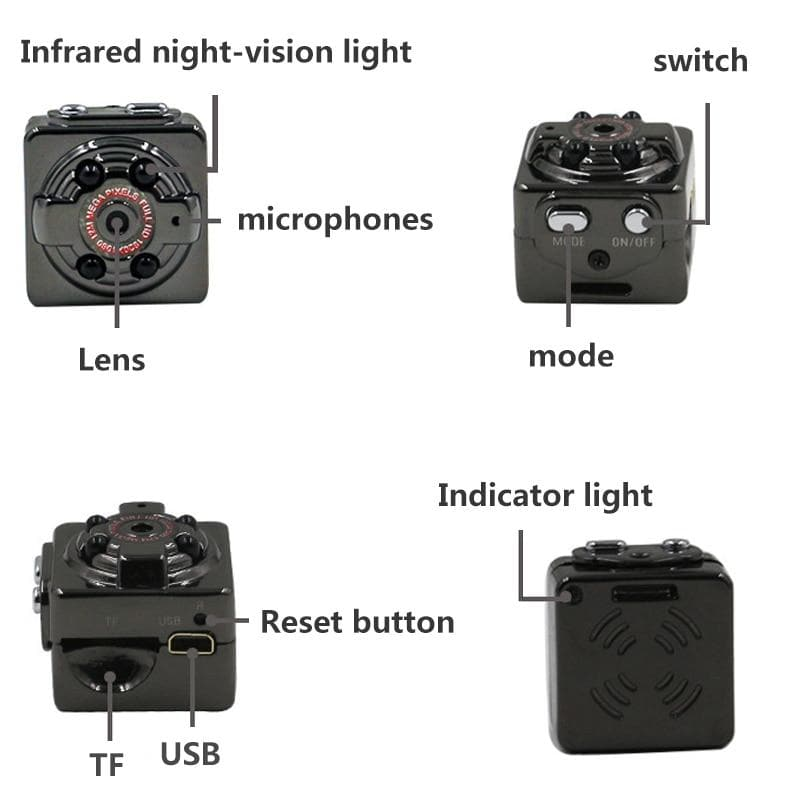 Mini Spy Camera Wireless Wifi IP Security Camcorder HD 1080P DV DVR Night Vision : Mini Camcorders - Gadgets 4 EZ Life