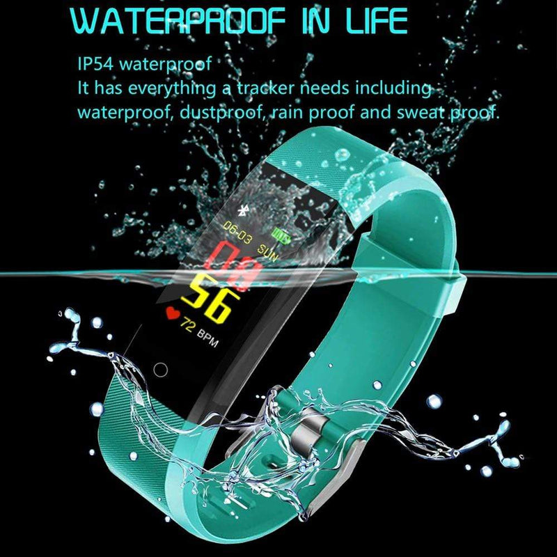 Smart Band Watch Bracelet Wristband Fitness Tracker Blood Pressure HeartRate M3s : Smart Wristbands - Gadgets 4 EZ Life