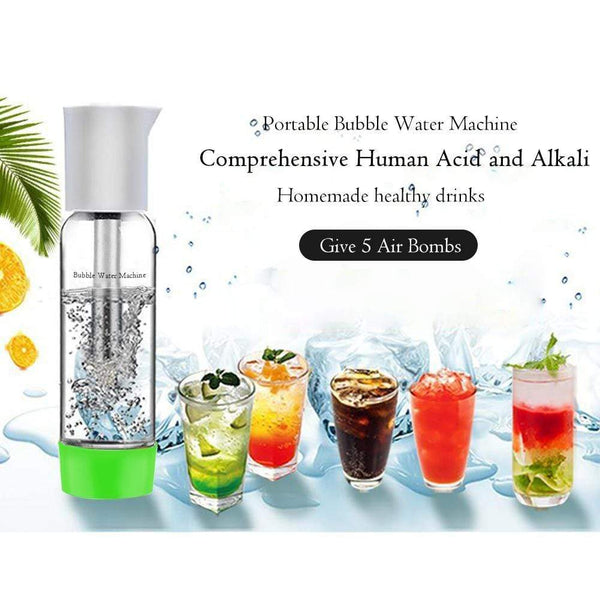 Sparkling Water Maker Soda Machine Maker with BPA free Bottle & CO2 Cylinder,Red : Funnels - Gadgets 4 EZ Life