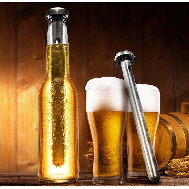 Cooler Stick Stainless Steel Beer Chiller Reusable Inner Rapid Bottle Frozen : Wine Coolers & Chillers - Gadgets 4 EZ Life