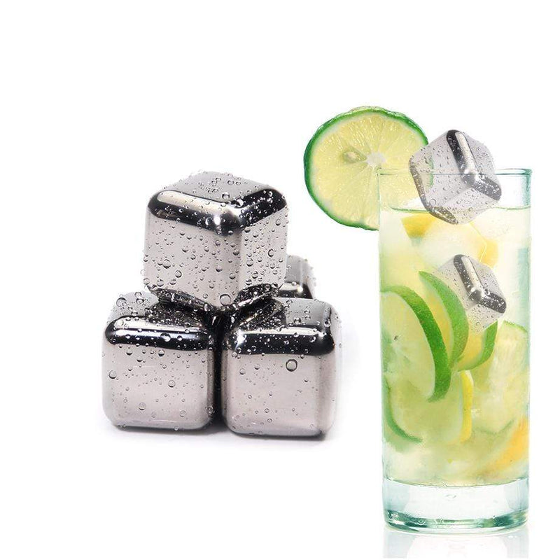Stainless Steel Chilling Reusable Ice Cubes for Whiskey Wine Drinks Bar Supplies : Wine Coolers & Chillers - Gadgets 4 EZ Life