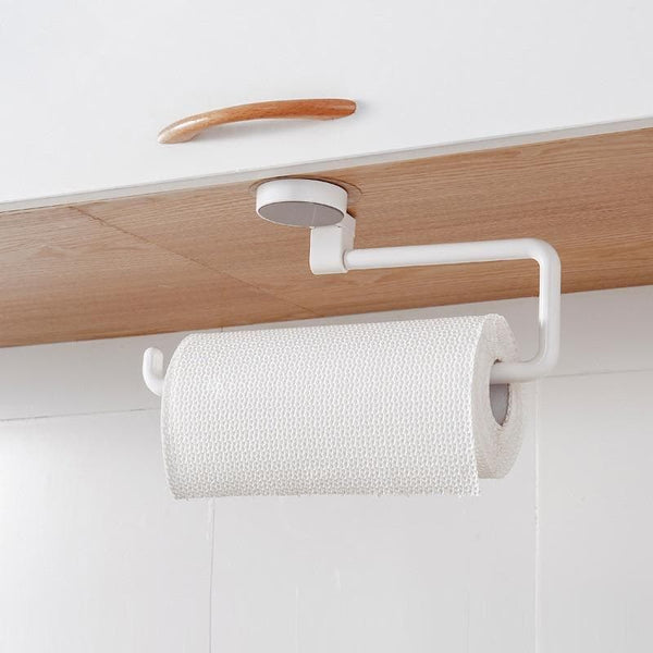 Kitchen Roll Dispenser Cling Film Tin Foil Paper Towel Holder Rack Wall-Mount : Storage Holders & Racks - Gadgets 4 EZ Life
