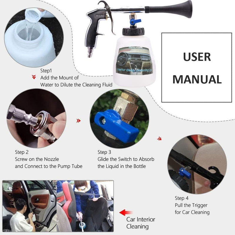 Car Wash High Pressure Gun For Interior Cleaning Tool : Water Gun & Snow Foam Lance - Gadgets 4 EZ Life