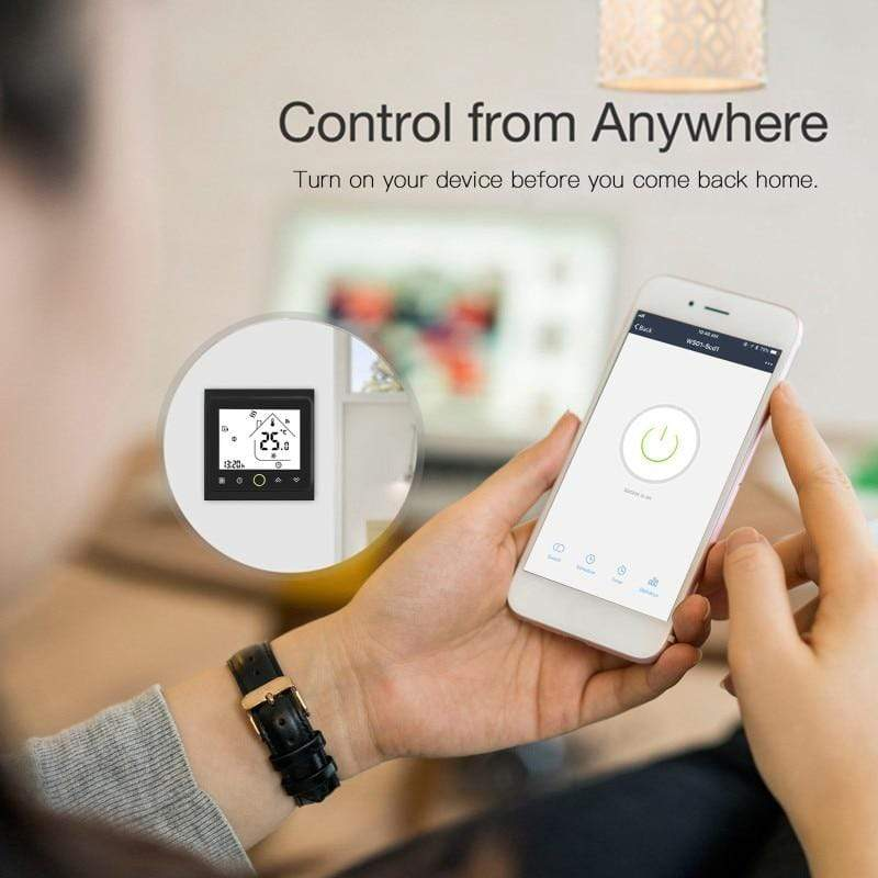 WiFi Programmable Thermostat Electric Smart Digital APP Alexa Google Underfloor : Smart Temperature Control System - Gadgets 4 EZ Life