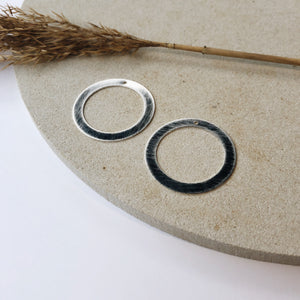 Elements - Circle.XL - zilver gerhodineerd