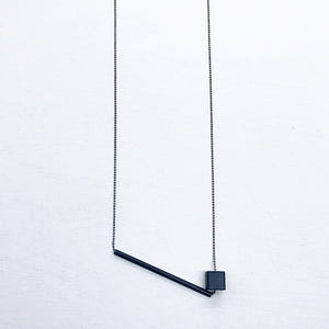 ° brass.LINE, halsketting - Bar&Cube BLACK