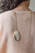 geometric GOLD - broche-ketting