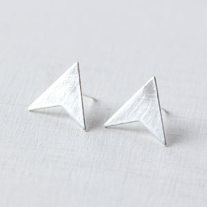 BASIC - oorbellen - cut°triangle - 925zilver