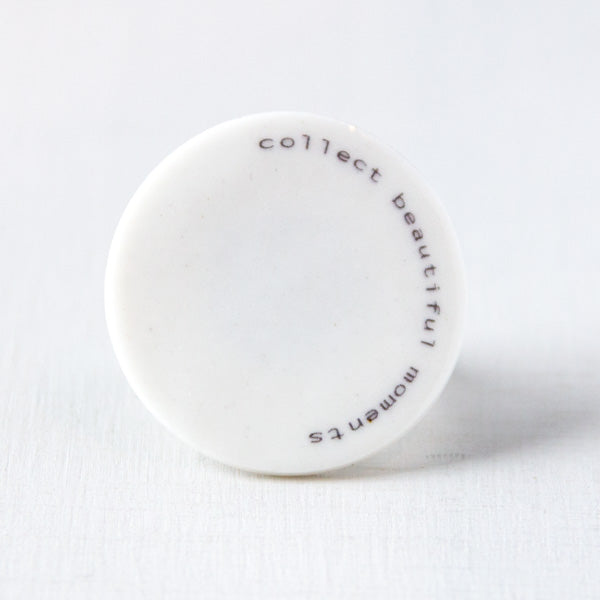 text-it - ring -  'collect beautiful moments'  - Ø 30mm