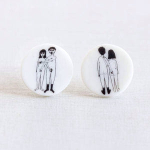 STORIES - oorstekertjes - naked couple  |  somethingsINSIDE x helenb  |  LAATSTE STUKS - limited edition
