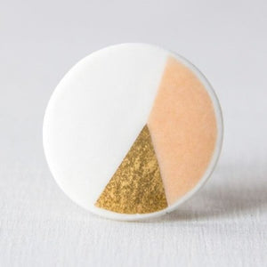 geometric COLOR&GOLD - ring - roze/goud