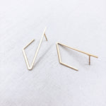 BASIC - LINES - triangle°side - 18kt verguld