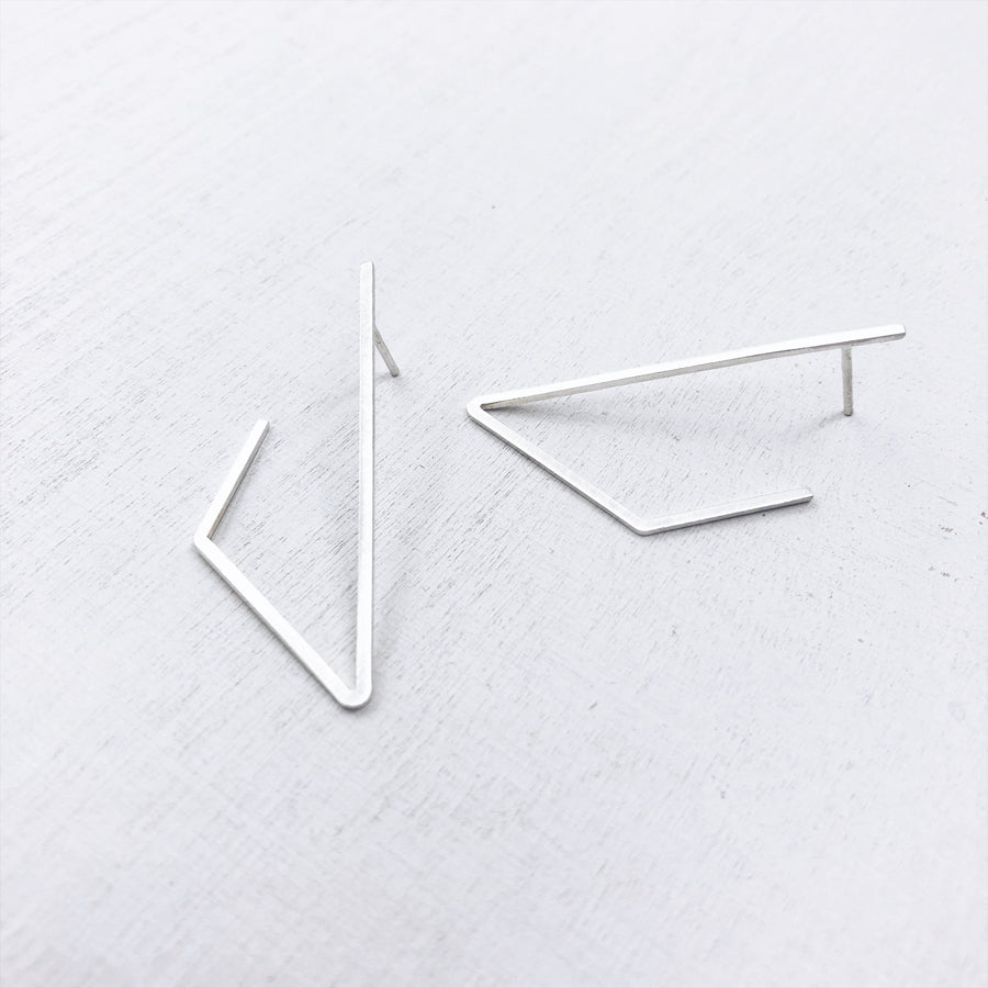 BASIC - LINES - triangle°side - 925 zilver