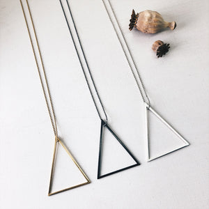 ° brass.LINE, halsketting - open triangle GOLD
