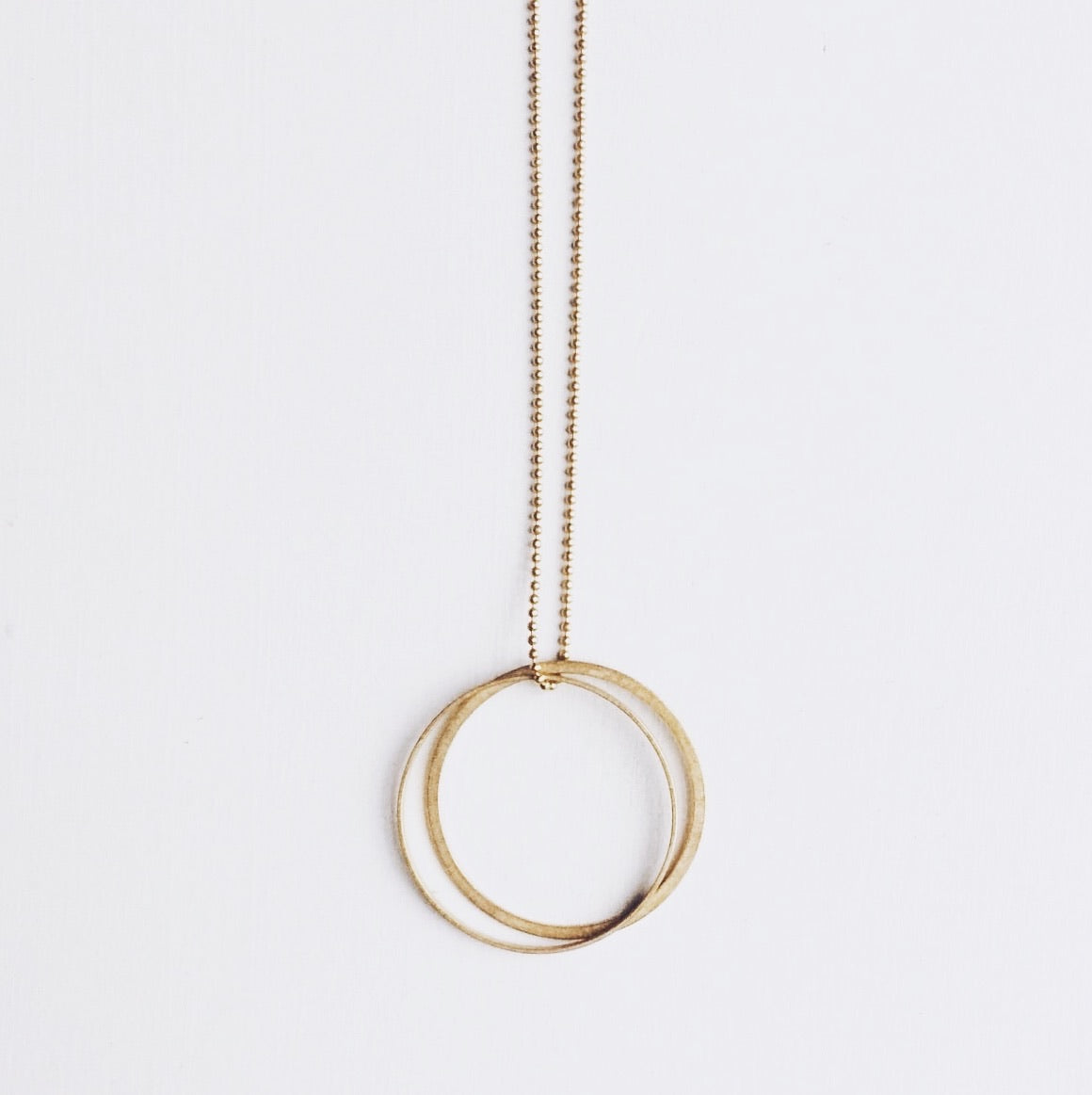 ° brass.LINE, halsketting * double ROUND, Gold