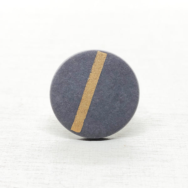 SOFT – ring – warmgrey&gold Ø 20mm / 30mm