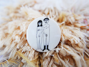 STORIES - broche - naked couple  |  somethingsINSIDE x helenb  |  LAATSTE STUKS - limited edition