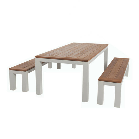 Sense 3pce Dining Table & Bench Setting